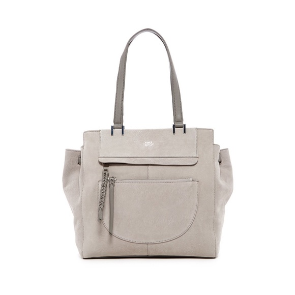 Vince Camuto Handbags - Vince Camuto Ayla Leather Tote in Rain Cloud Grey